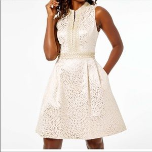 Lilly Pulitzer Gold Franci High Collar Dress
